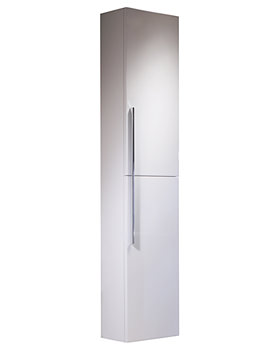 Kato 300mm Tall White Storage Cupboard - ENC300W