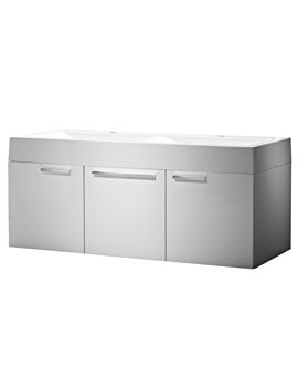 Envy 1200mm Double Wall Mounted Unit White And Basin
