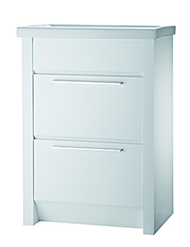 Kato 600mm White Freestanding Vanity Unit And Basin