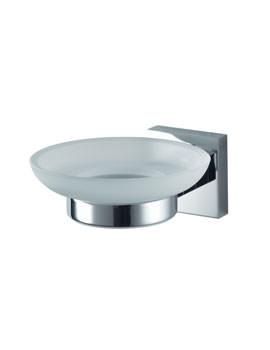 Haceka Mezzo Glass Soap Holder Chrome - 1120449