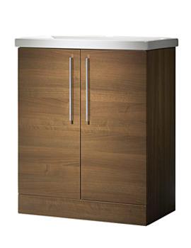Envy 700mm Walnut Floorstanding Unit And Basin - EN7FAW