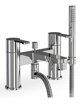 Crystal Deck Mounted Bath Shower Mixer Tap Chrome