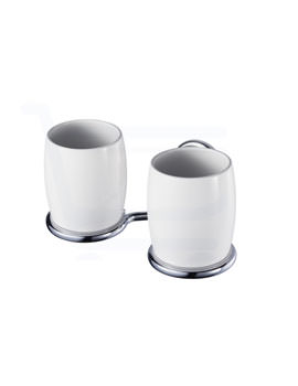 Aqualux Haceka Allure Double Toothbrush Holder Chrome - 1126175