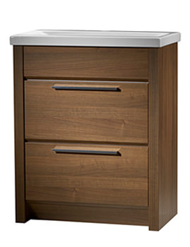 Kato 700mm Walnut Freestanding Vanity Unit Including Basin