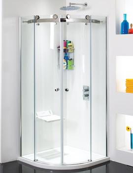 Phoenix Motion Frame-less Twin Door Shower Quadrant 1000mm - SE100