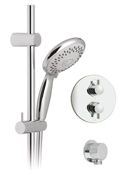 Vado Celsius-Space Concealed Thermostatic 5 Mode Shower Set Round