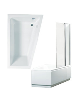Phoenix Taranto Right Hand Shower Bath With Panels And Screen