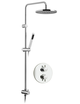 Related Vado Celsius Thermostatic Rigid Riser With Head And Handset Round