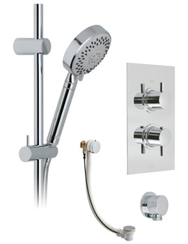 Vado Celsius-Neptune Rectangle Thermostatic Shower And Bath Filler