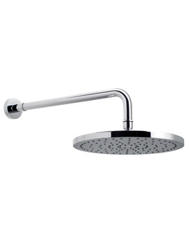Saturn Single Function 220mm Fixed Disc Head And Shower Arm