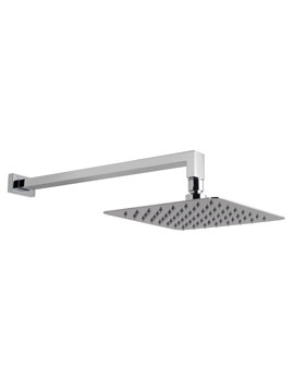 Aquablade Single Function 300mm Square Shower Head With Arm