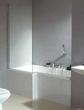 Phoenix Qube Left Hand Shower Bath With White Panel And Screen 1700mm