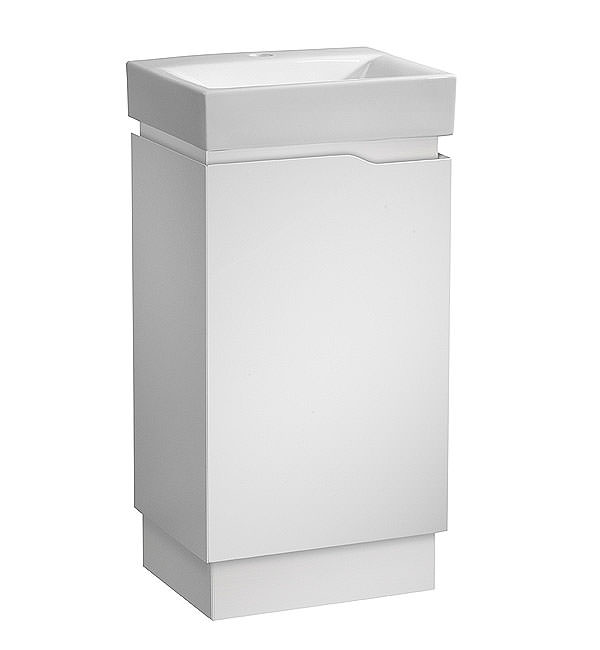 Large Image of Tavistock Edge 450mm White Freestanding Vanity Unit And Ceramic Basin