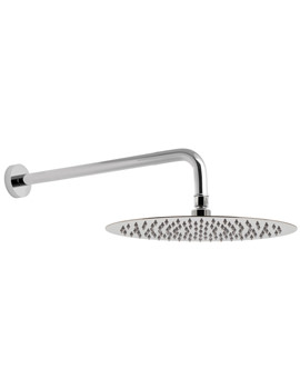 Aquablade 1 Function 200 x 300mm Oval Shower Head With Arm