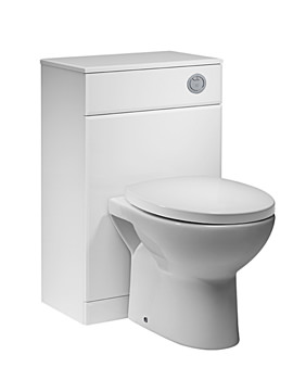 Tavistock Meridian 500mm White Back To Wall WC Unit - MBTW50W