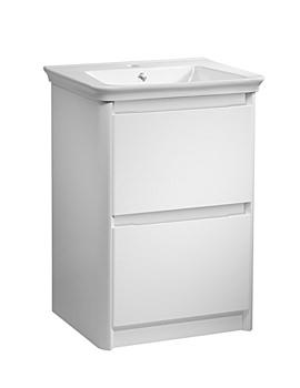 Equate 700mm White Freestanding Unit And Ceramic Basin