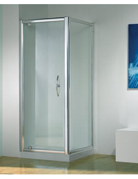 Original 900mm Silver Straight Pivot Door With Tray And Waste
