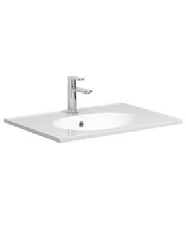 Related Bauhaus Linea Round 600mm 1 Tap Hole Basin With Overflow - LN0621SRW