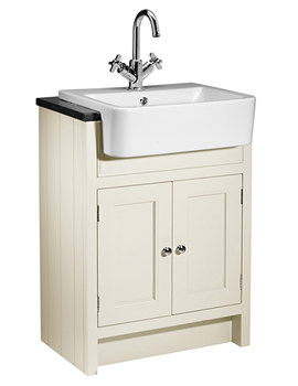 Hampton 600mm Vanilla Semi-Countertop Unit With Basin