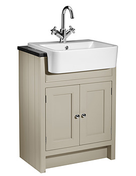 Hampton 600mm Semi-Countertop Unit Mocha And Basin