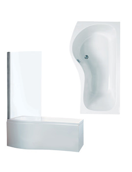 Capri Left Hand Front Panel And Screen Bath 1700 x 750mm - BH025