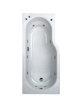 Phoenix Space Left Hand Whirlpool Bath With Panel 1700x800mm System 1