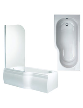 Space Left Hand Shower Bath With Panels And Screen 1700mm