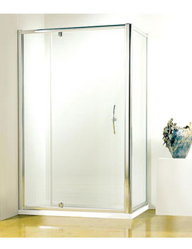Kudos Original 1200 Silver Straight Pivot Door With Tray And Waste