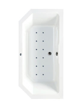 Phoenix Plato Inset Double Ended Airpool Bath 1700 x 800mm System 2
