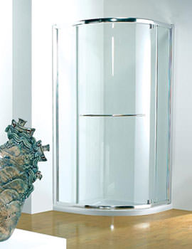 Kudos Original 900mm Silver Pivot Shower Door With Tray And Waste