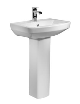 Vibe 1 Tap Hole Basin With Full Pedestal 550mm - SB700S