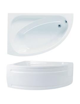 Duo Left Hand Corner Bath And Panel 1500 x 1000mm