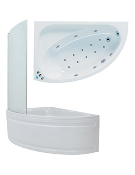 Duo Shower Whirlpool-Airpool Bath With Panel And Screen 1500mm System 3