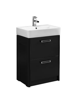 Image of Tavistock Q60 575mm Graphite Freestanding Unit And Ceramic Basin