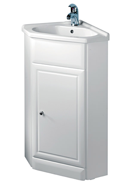 Corner Basin And Vanity Unit : ... of Tavistock Aspen 570mm White Corner Vanity Unit And Basin - A60CNRB