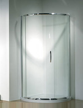 Original 810mm Silver Curved Slider Door Side Access With Tray And Waste