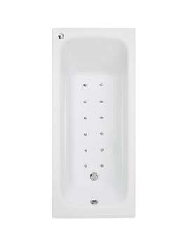 Phoenix Crystal Single Ended Airpool Bath 1700 x 700mm System 2