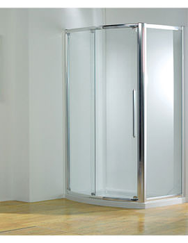 Kudos Original 1200mm Silver Bowed Sliding Door With Tray And Waste