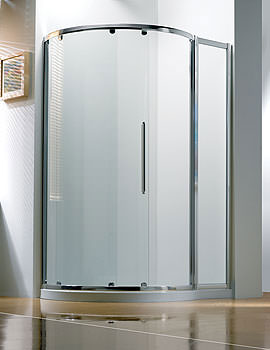 Original 1270x910mm LH White Slider Door Side Access With Tray And Waste