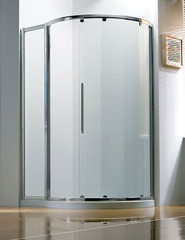 Original 1270x910mm RH White Slider Door Side Access With Tray And Waste