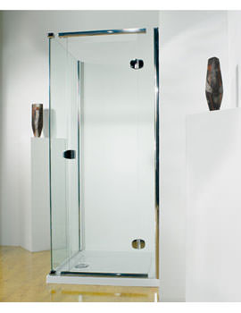 Infinite 800mm RH Straight Hinged Shower Door With Tray And Waste