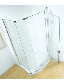 Infinite 1200mm Bowed RH Hinged Door With Tray And Waste