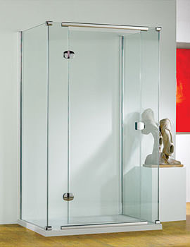 1000mm RH Straight Hinged Shower Door With Tray And Waste