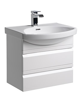 Profile White 600mm Wall Mounted Unit Including Basin