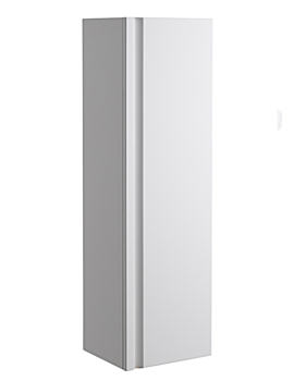 Profile White 350mm Tall Storage Cupboard - PRFC350W