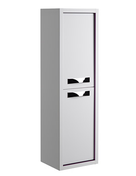 Roper Rhodes Breathe White-Plum 350mm Tall Storage Unit - BREC350W