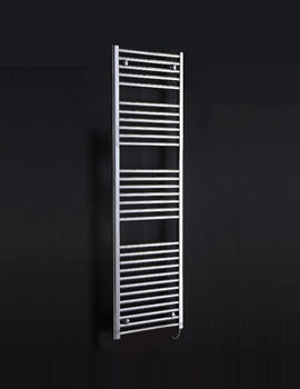Phoenix Flavia Straight Electric White Towel Rail 300 x 1500mm - EA502
