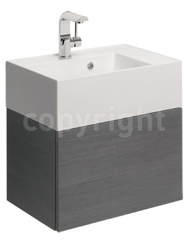 Bauhaus Elite 500mm Single Drawer Steel Wall Hung Basin Unit