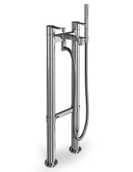 Crystal Bath Shower Mixer Tap With Floor Mounted Legs