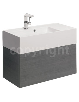 Bauhaus Elite 700mm Single Drawer Steel Wall Hung Basin Unit